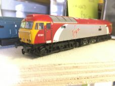 Graham Farish Class 57 Virgin Scot Tracy DCC Fitted - N Gauge